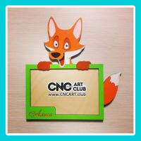Toys 1007 Small Cute Photo Frame For Kids With Fox Download Free For Laser Cut