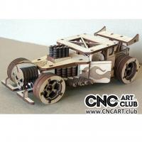 Vehicle 1002 Download Free Post Apocalyptic Mosnter Car DXF CDR Plan For Laser