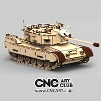 Vehicle 1004  3d Model Of Tank DXF Plan Ready For LAser Machine Cut