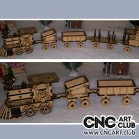 Vehicle 1005 Train Set Dxf Plan Download Free To Cut With Plywood And Laser Machien