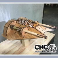 Vehicle 1006 Space Ship Star Wars Air Speeder DXf Plan For CNC Machine Cut